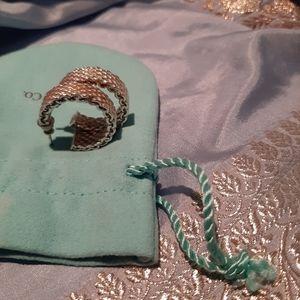 Tiffany somerset mesh silver earrings